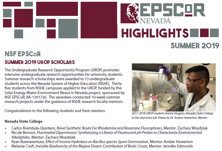 Summer 2019 EPSCoR Highlights